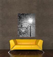 POSTER PRINT GIANT PHOTO VINTAGE STREET LAMP LIGHT SNOW WINTER TREEE PAMP352