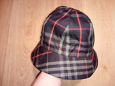 Burberry London Vintage Reversible Nova Check Plaid Bucket Hat Mens Womens Navy