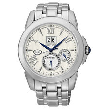 Mens New Seiko Le Grand Sport Kinetic Perpetual Date Watch 100m SNP065 Rp £450