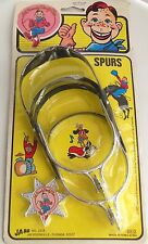 1987 Howdy Doody Ja-Ru 40th Anniversary Toy Spurs & Badge Cowboy Boot Playset