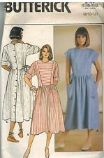 3109 Vintage Butterick Sewing Pattern Misses Dress Semi Fitted Bodice 8 OOP SEW