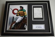 Tony AP McCoy SIGNED FRAMED Photo Autograph 16x12 display Horse Racing AFTAL COA