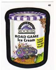 2016 Topps MLB Wacky Packages #48 Rockies Road Game Ice Cream
