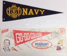1950s Navy Naval Academy University Midshipmen Maryland Mini Pennant 3.25x9.25""