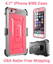 Genuine iPhone 6/6S Supcase Unicorn Beetle Full Body Rugged Holster Case Pink