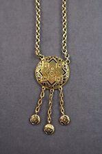 Collier Silber vergoldet, 3 Abhängungen , reiner Jugendstil um 1900