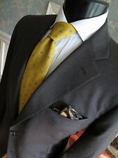 Brooks Brothers Martin Greenfield 1818 Golden Fleece charcoal gray suit 42 R