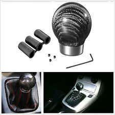 THREADED ROUND CARBON FIBER SHIFT KNOB AUTOMATIC TRANSMISSION LEVER Universal