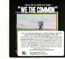 (DR108) Thao & The Get Down Stay Down, We The Common - 2013 DJ CD