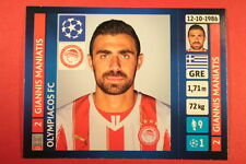 PANINI CHAMPIONS LEAGUE 2013/14 N. 202 MANIATIS OLYMPIACOS BLACK BACK MINT!
