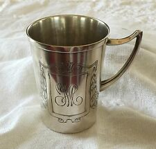 Antique Art Nouveau Lutz Weiss German Silver 800 Tall Baby Cup 1910 Puerto Rico
