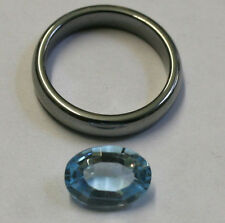 NATURAL LOOSE BLUE TOPAZ GEMSTONE 8X12MM FACETED OVAL 4.3CT GEM TZ40