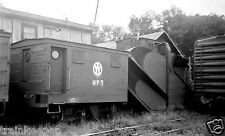 Unadilla Valley Wood Snow Plow #SP5 (New York Ontario & Western) B&W Photo