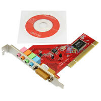 PCI 4 Channel Audio Sound Card With MIDI Game Port For PC Computer Fast Post Hot