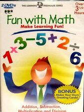 Learning Treehouse Series Fun with Math 2 DVD SET CHILDRENS EDU ADD SUBTRACT