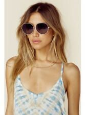 NEW WILDFOX Fleur Silver & Blue Gradient Sunglasses Anthropologie & Heart Case