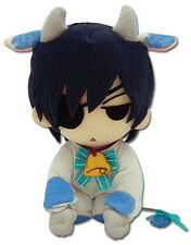 Black Butler 8'' Ciel Cow Plush Licensed Kuroshitsuji NEW