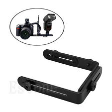 Double L-shaped Metal Dual Bracket/Holder Mount for Canon Camera&Speedlite Flash