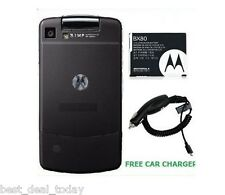 OEM Motorola BX80 Extended Battery&Door For Stature I9 Sprint Nextel+Car Charger