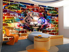 Photo Wallpaper  Picture with Tiger GIANT WALL DECOR PAPER POSTER FOR BEDROOM