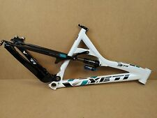 "2012 Yeti 575 26"" Medium Enduro Bike Frame - White & Carbon USED 057"