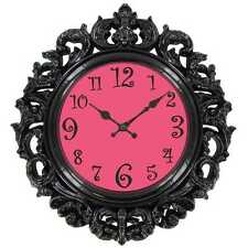 Hot Pink Victorian Wall Clock    teenage girly room decor baroque-style design