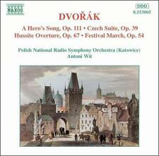 Dvorák: A Hero's Song; Czech Suite; Hussite Overture; Festival March, New Music