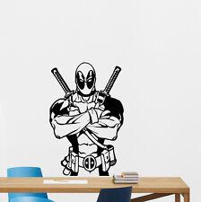Deadpool Wall Decal Comics Superheroes Vinyl Sticker Print Poster Mural 240hor