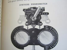 Genothalmic Refractor Phoropter Eye Exam Ophthalmology Optometrist Vintage 1922