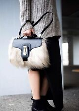 ZARA GORGEOUS BLACK FUR CITY BAG SHOPPER TOTE BLOGGERS SOLD OUT!! REF 4294/004