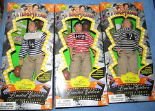 Exclusive Premiere THREE STOOGES DOLL FIGURE COLLECTION MOE LARRY CURLY--MIB