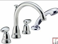 Delta T4788-GLHP  Roman Tub Faucet Trim Only with Hand Shower chrome