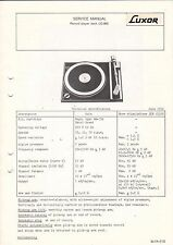 LUXOR Service Manual Anleitung Record Player LG-900  B1607