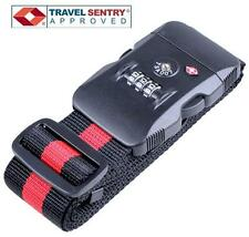 Jasit TSA Accepted Luggage Suitcase Travel Strap Belt + 3 Dial LOCK Combination
