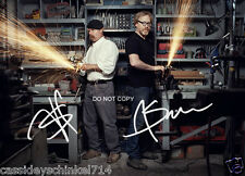 Myth Busters TV Show 8x10 Reprint Signed Photo #1 RP Jamie Hyneman & Adam Savage