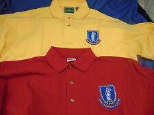Golf shirts 2 Civil Air Patrol Leadership Academy size M and S yellow red planes