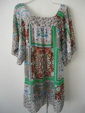 Boho Blouse Top Shirt Womens Plus Size 2X Floral EUC