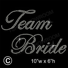 Team Bride Party Rhinestone Transfer Hotfix Iron on Motif Appliqué + a Free Gift