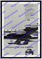 Photo studio 13 voitures particulières Mercedes-Benz Lufthansa BOEING 720 aviation Leinfelden 1963