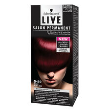 Brand New Schwarzkopf Live Salon Permanent 5.89 Dark Ruby Red