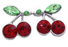 Red Cherry Fruit Charm Stud Post Earrings Women Jewelry Gift For Girls e7sr