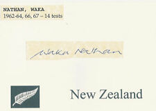 WAKA NATHAN NZ ALL BLACK SIGNED RUGBY CARD
