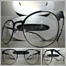 Mens CLASSIC VINTAGE 50's RETRO Style Clear Lens EYE GLASSES Black Fashion Frame