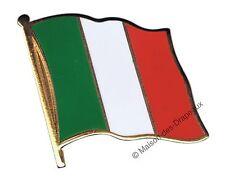 PIN's drapeau ITALIE italien badge 2x2cm doré