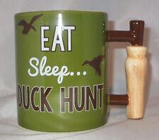 Eat Sleep Duck Hunt Coffee Mug Cup Call Handle 18 oz Ceramic New Hunting Mallard