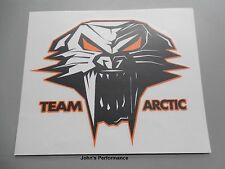 "Team Arctic Cat 12"" Orange Cathead Decal Sticker - Black Orange White 5239-725"