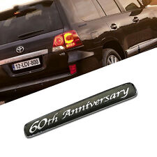 60th Anniversary Car Auto Badge Emblem Sticker Black New for Toyota