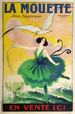 FRENCH WINE, 1920 Vintage Advertising Poster Giclee Canvas Print  27X40