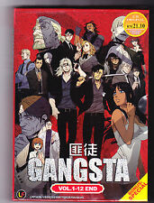 *NEW* GANGSTA *12 EPISODES*ENGLISH SUBTITLES*ANIME LOT*US SELLER* FREE SHIPPING