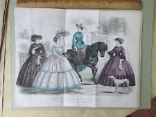 Vintage Print,MAY,How Do You Like my New Horse?Fashion,Godeys,1861